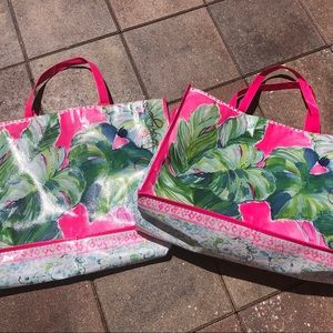 LARGE Lilly Pulitzer 2 totes